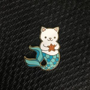Jewelry - Mermaid Cat Enamel Pin Brooch